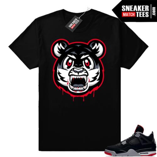Bred 4s Angry Tiger shirt