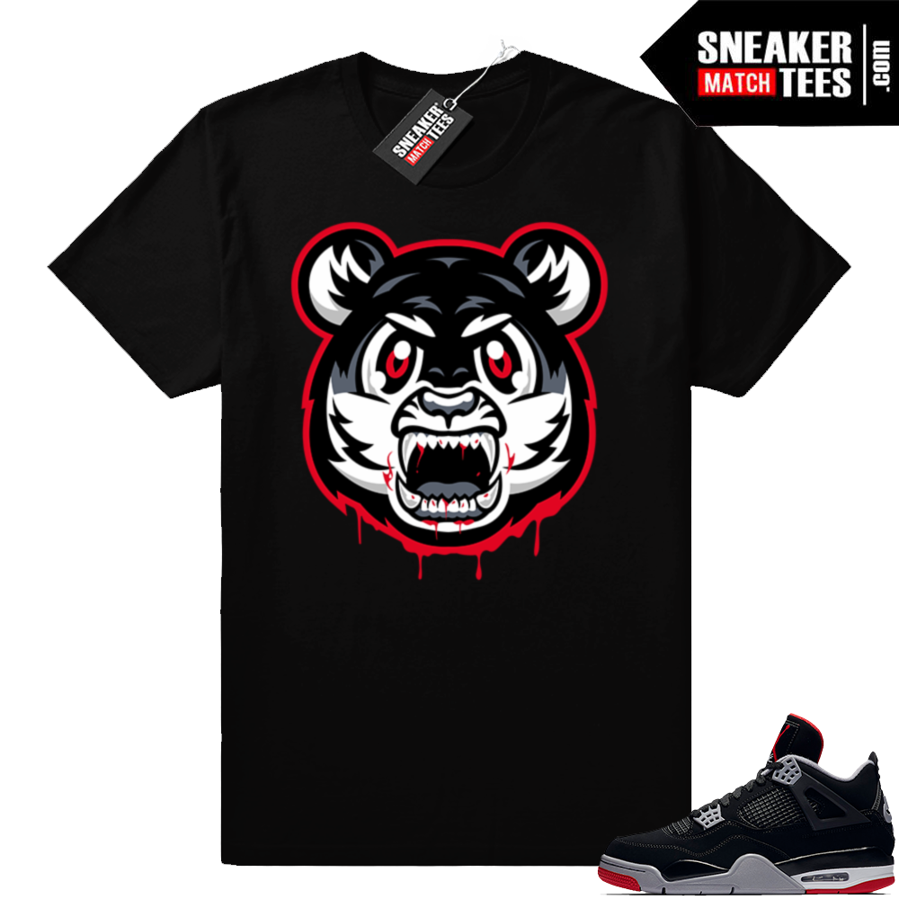 Bred 4s Angry Tiger shirt