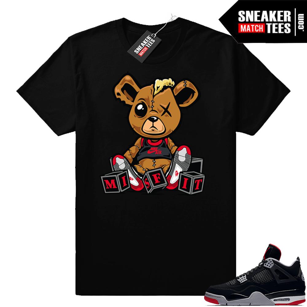 Bred 4s Misfit teddy shirt