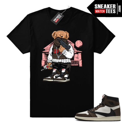 Jordan 1 Travis Scott sneaker match t-shirt