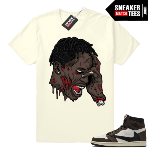 Jordan 1 Travis Scott tee match