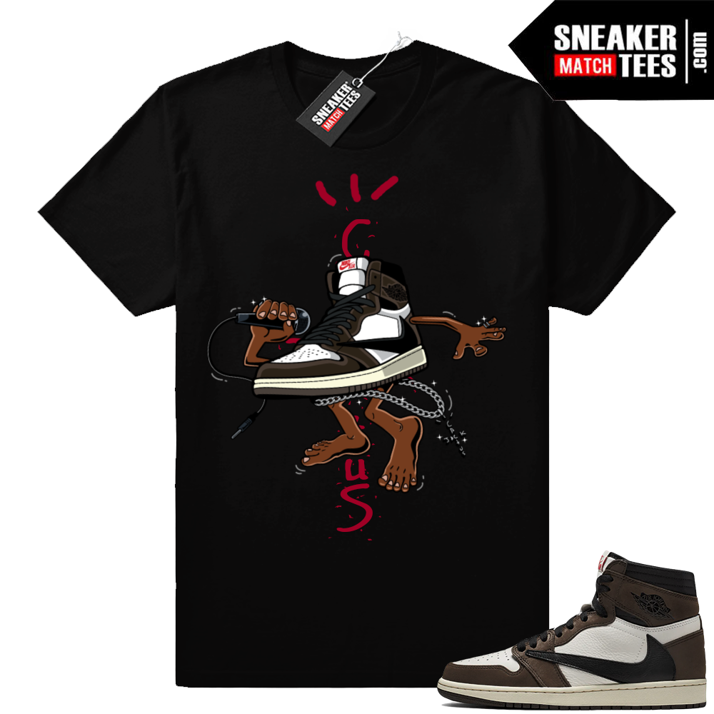 Jordan 1 travis scott sneaker tee shirts