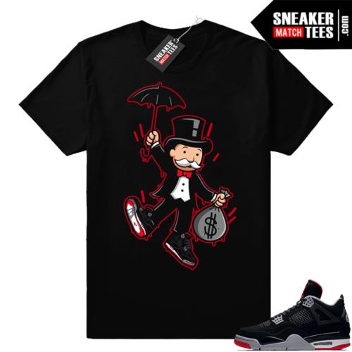 Shirts match Jordan 4 Bred sneakers