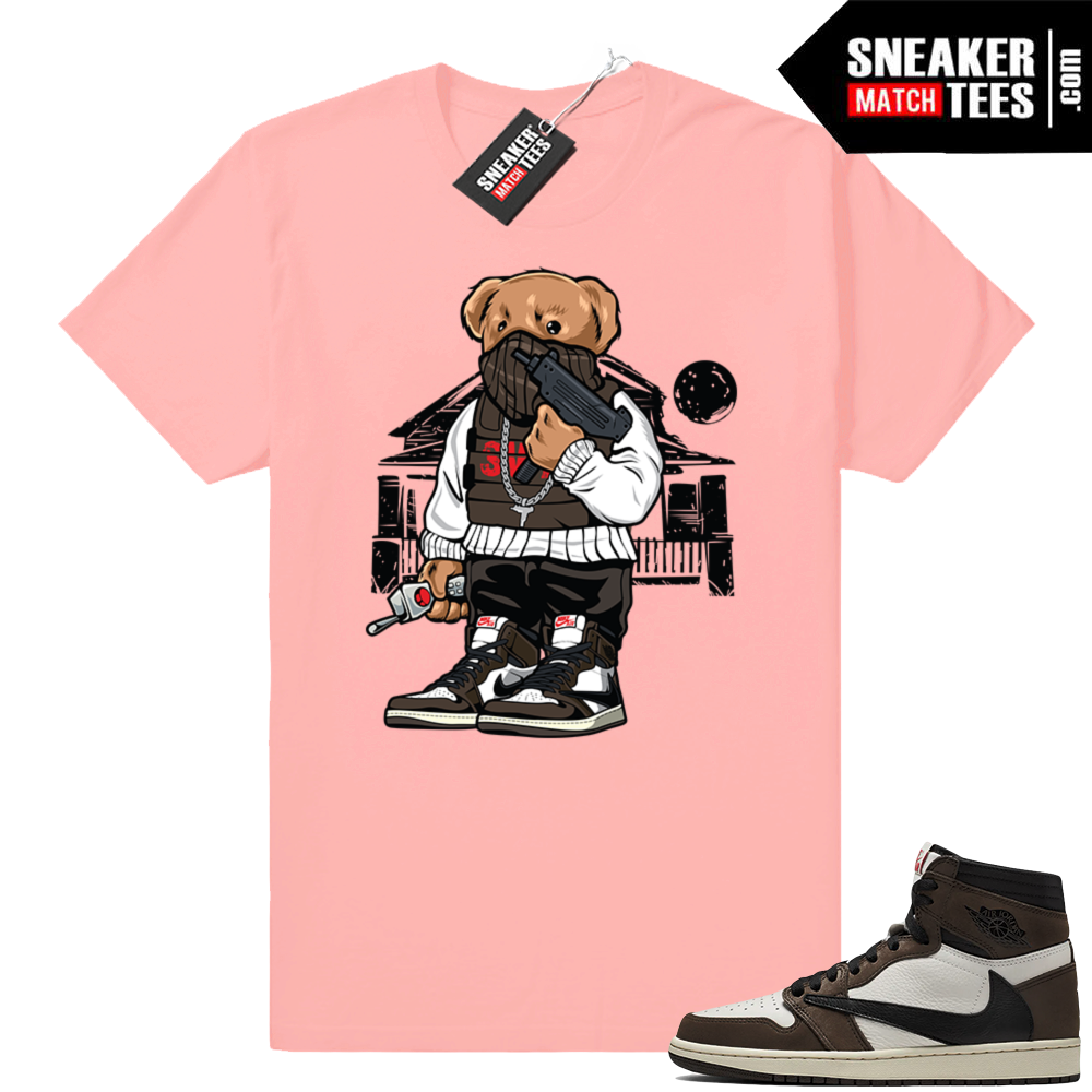 Sneaker shirt Travis Scott 1s