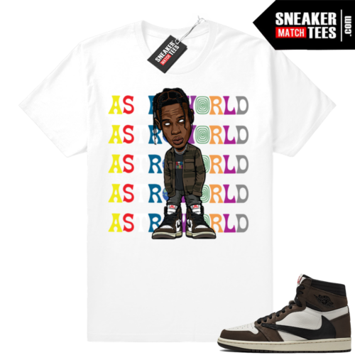 Sneaker tees Travis Scott 1s Jordan retro