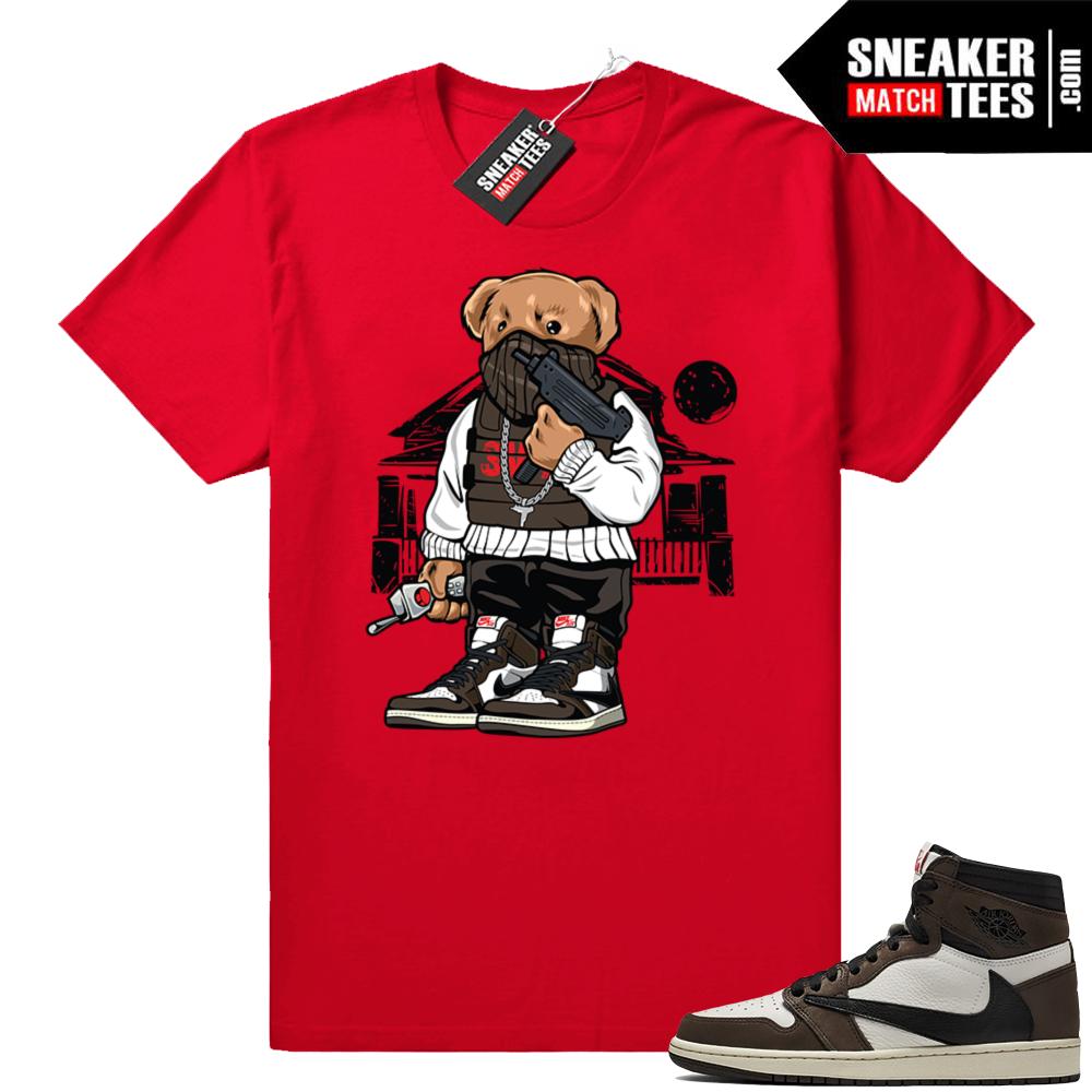 Sneaker tees Travis Scott Jordan 1s