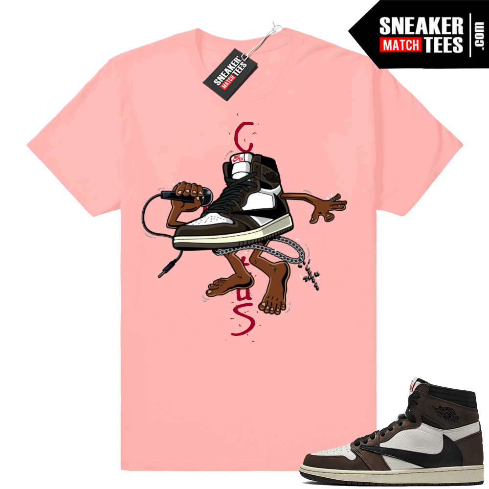 Travis Scott 1 Jordan match tees