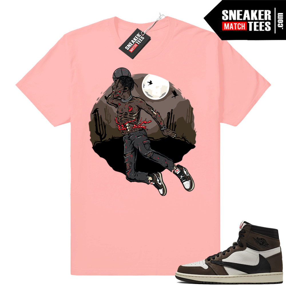 Travis Scott 1 sneaker tees match