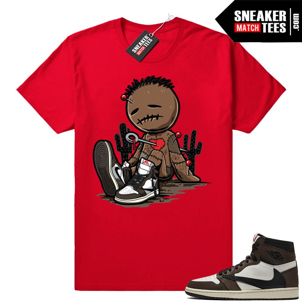 Travis Scott 1s Jordan sneaker tees