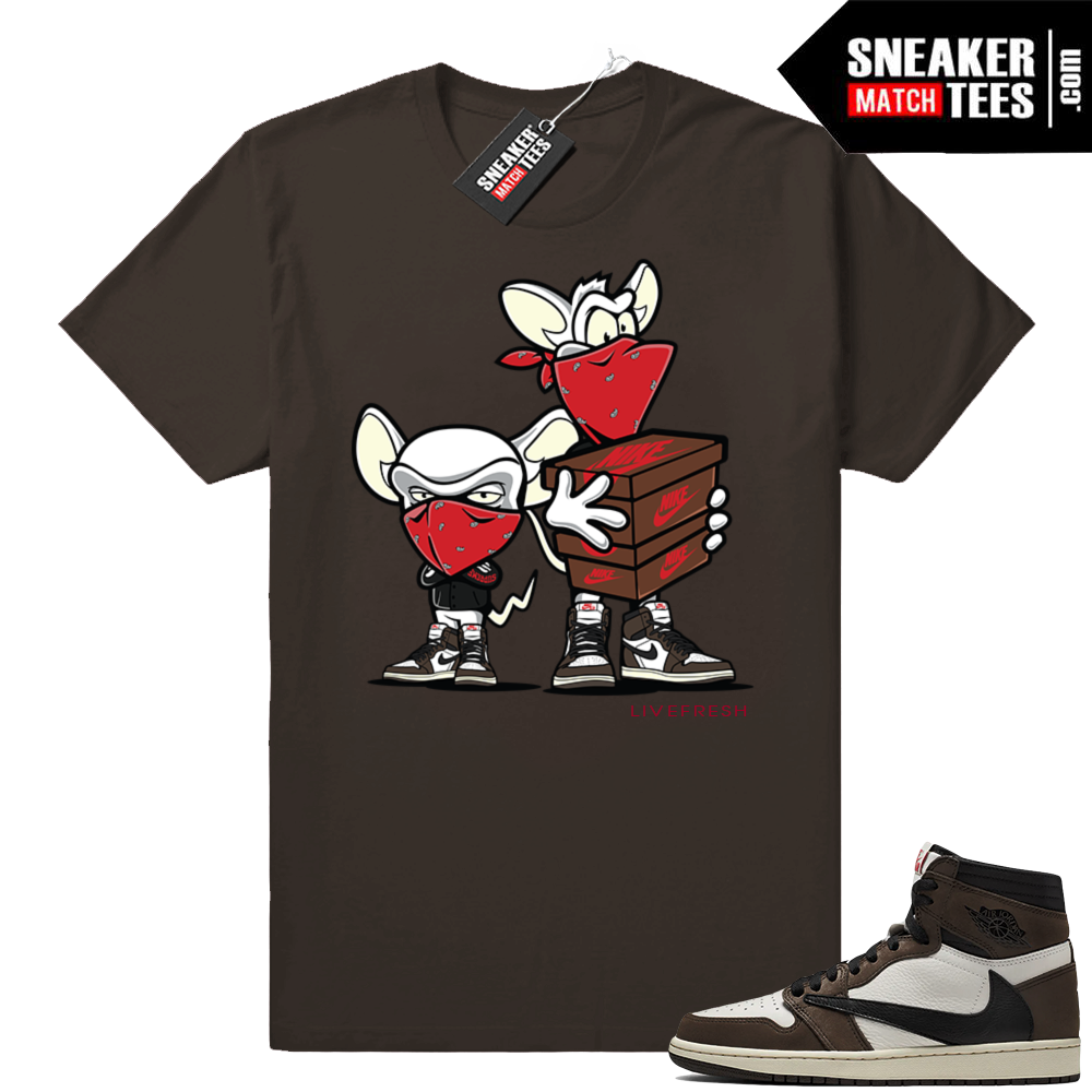 Travis Scott 1s Sneaker Heist Brown Tee
