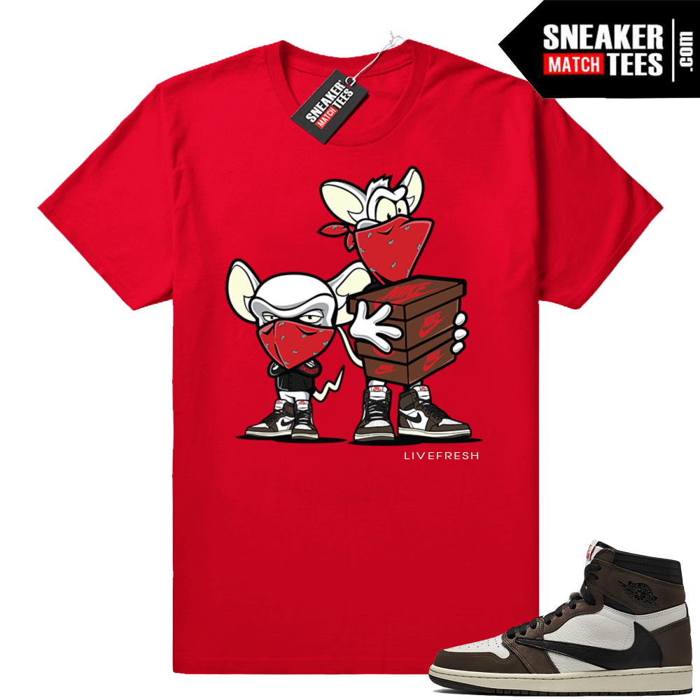 Travis Scott 1s Sneaker Heist Red Tee