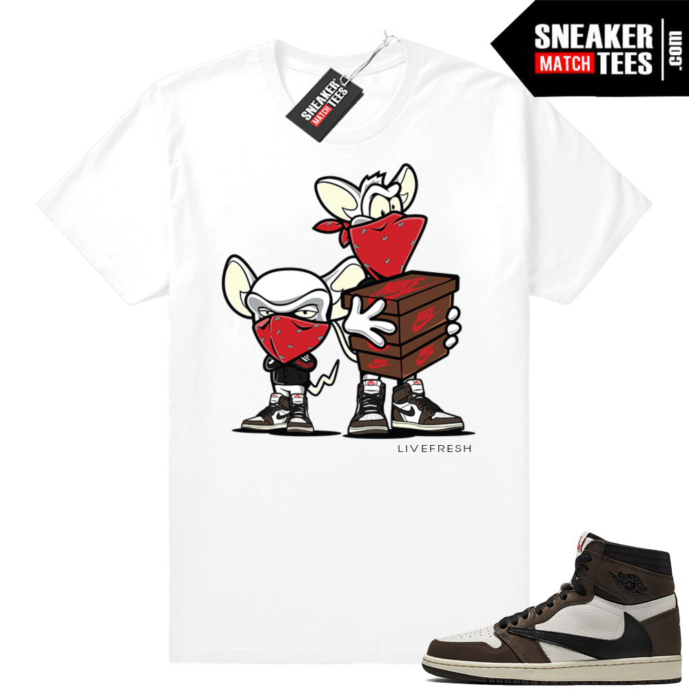 Travis Scott 1s Sneaker Heist White Tee
