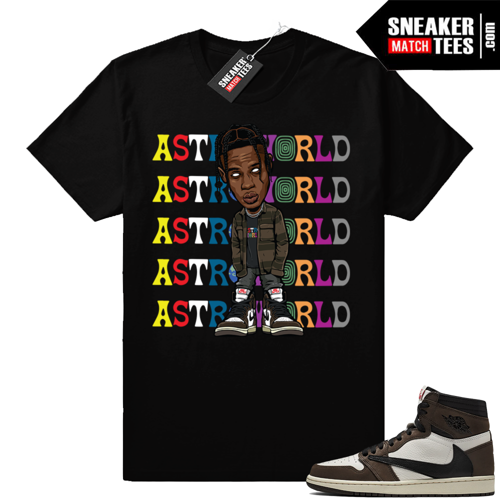 Travis Scott 1s match jordan tees