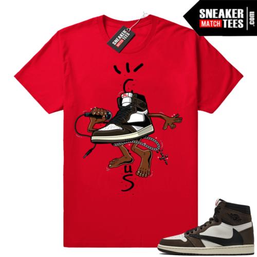 Travis Scott 1s matching shirts