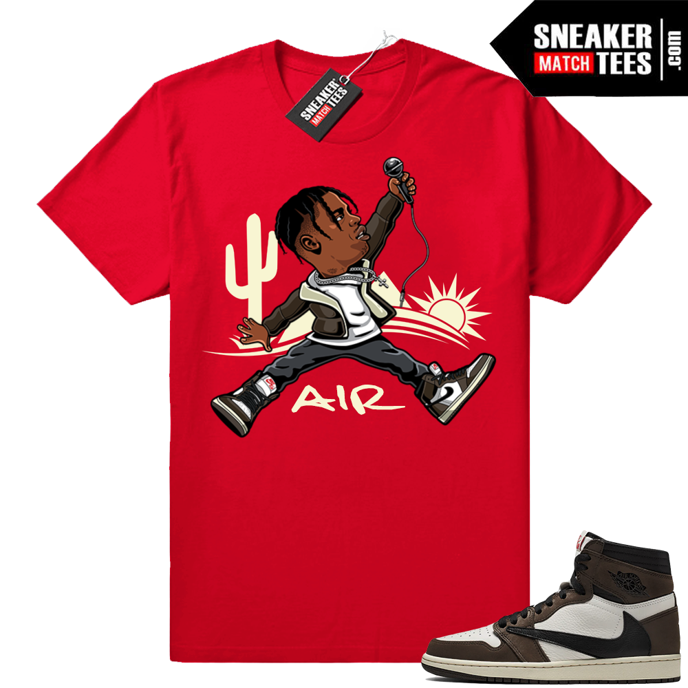 Travis Scott 1s matching tees