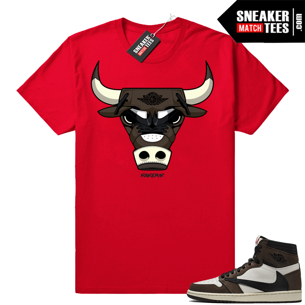 Travis Scott 1s rare air bull tee