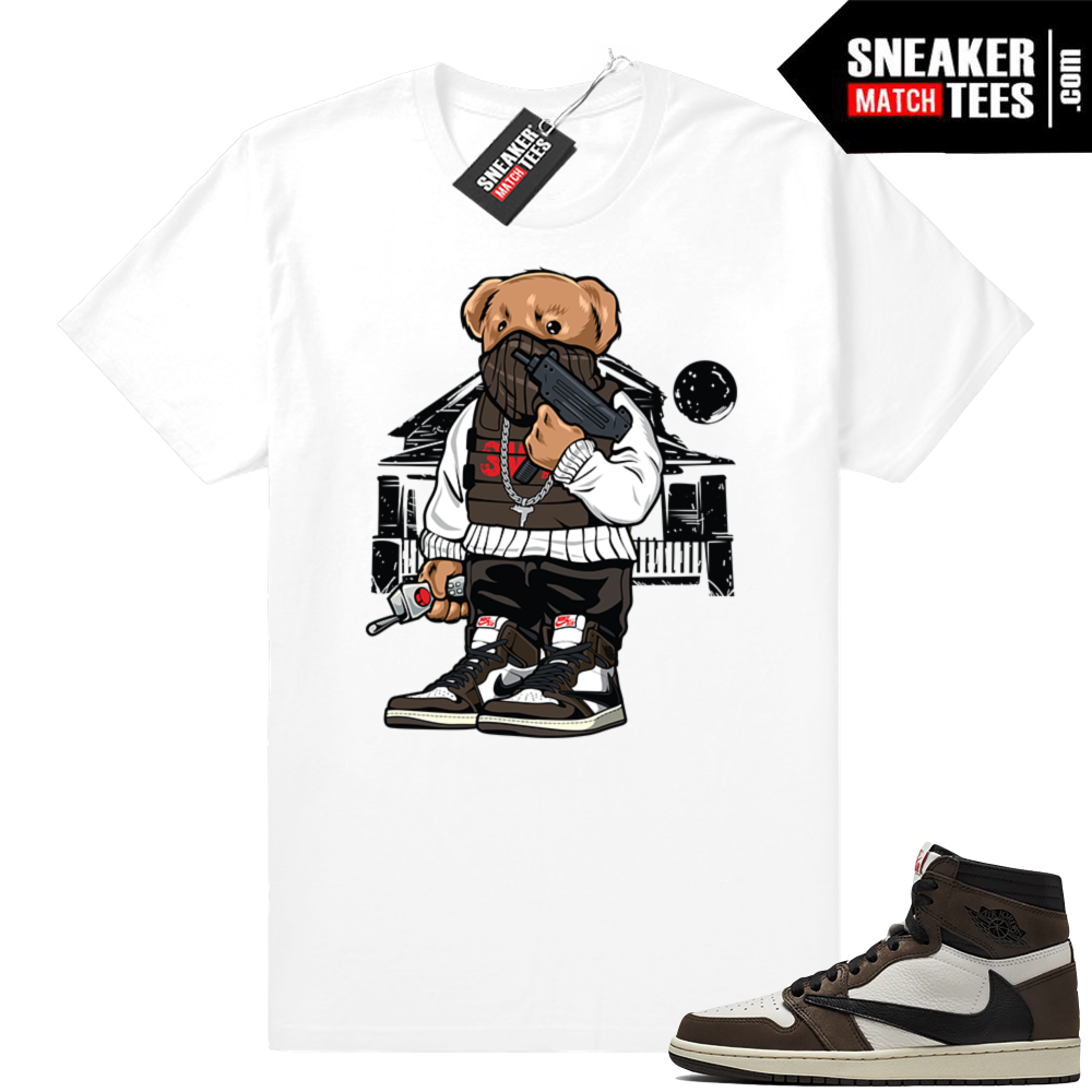 Travis Scott 1s sneaker matching shirts