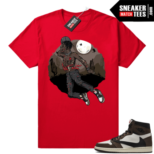 Travis Scott Jordan 1s match sneaker shirts