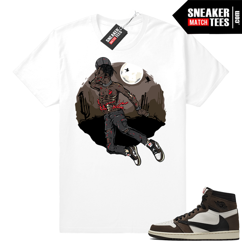 Travis Scott Jordan 1s match sneaker tees