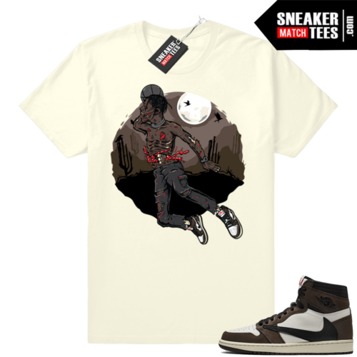 Travis Scott Jordan 1s match tees