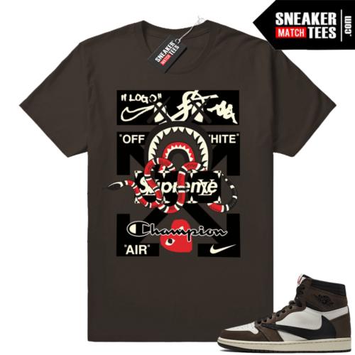 Travis Scott Jordan 1s sneaker match