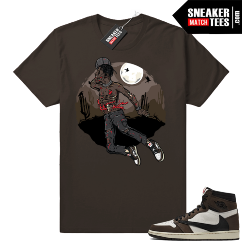 Travis Scott Jordan 1s sneaker tees