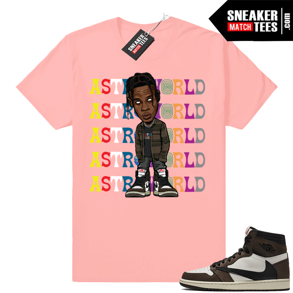 Travis Scott shirt Jordan 1 Match