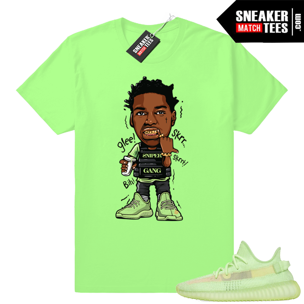 Yeezy 350 Glow shirts match