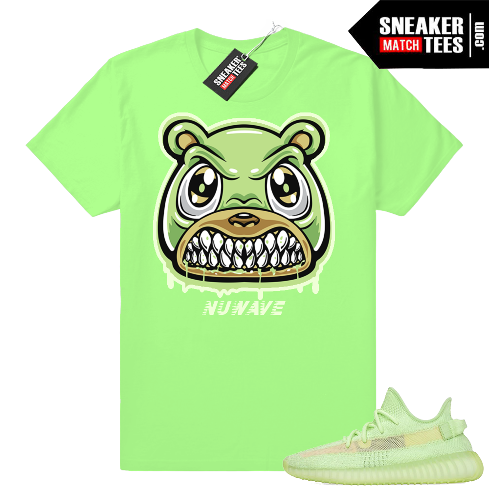Yeezy 350 V2 Glow Green shirts