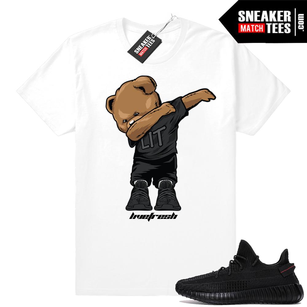 Black Yeezy Boost 350 V2 Match shirt