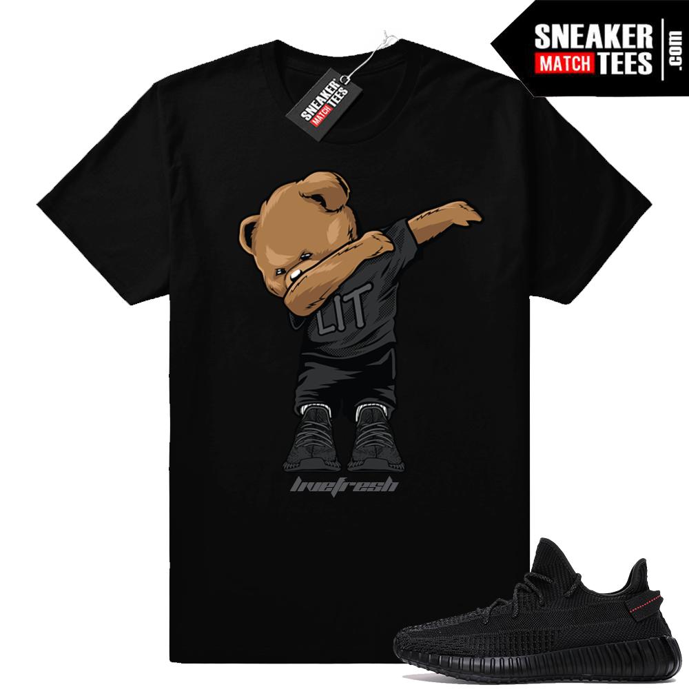 Black Yeezy Boost matching shirts