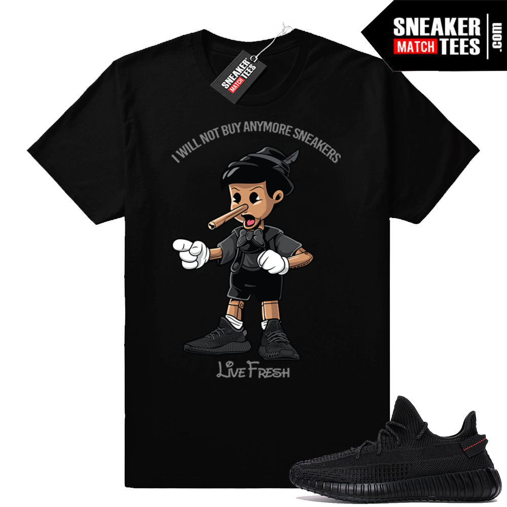 Black Yeezy Boost shirt match
