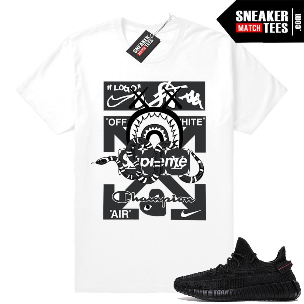 Black Yeezy Boost sneaker tees