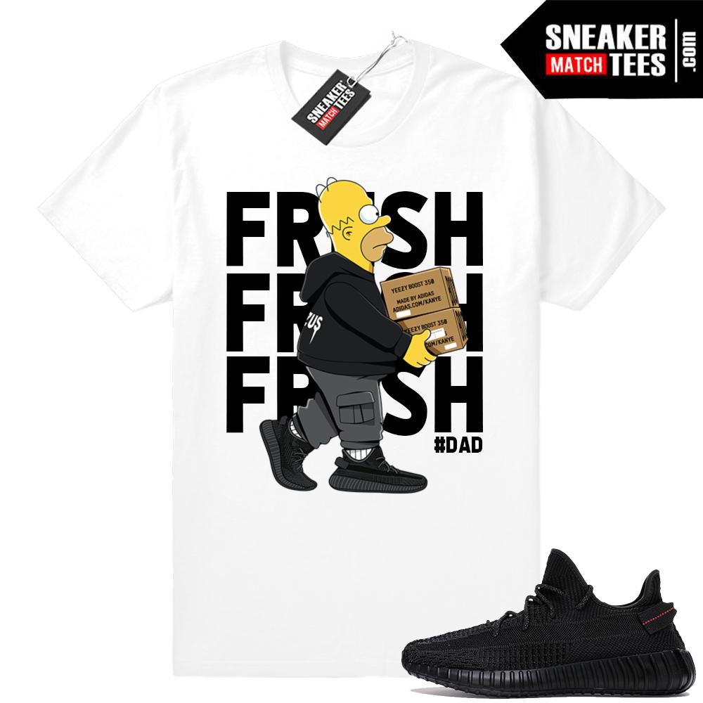 Fresh Homer Yeezy Boost 350 Black tee