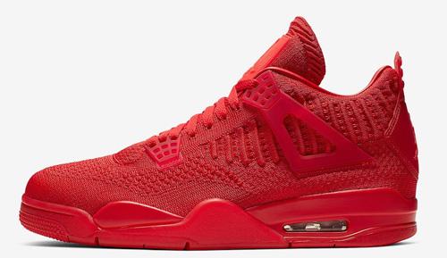 Jordan release June Flyknit 4s red