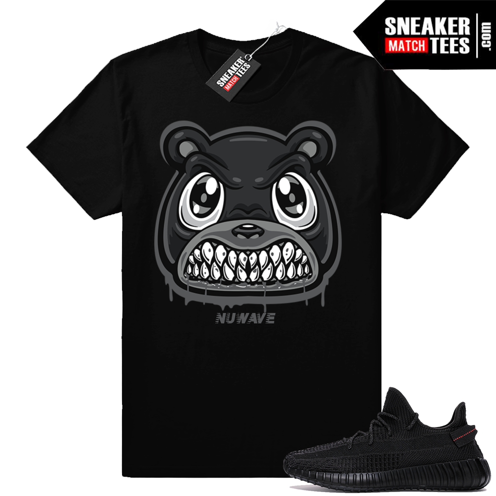 Match Yeezy 350 V2 Black shirt