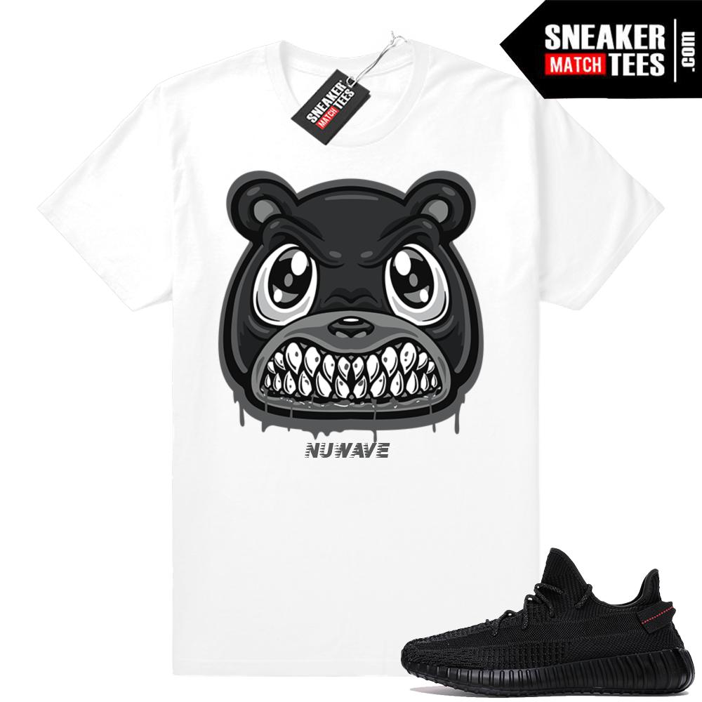 Match Yeezy 350 V2 Black sneaker shirt