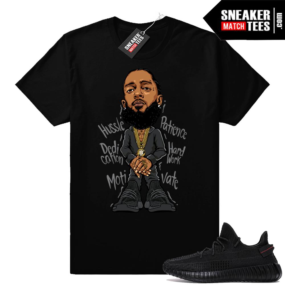 Nipsey Hussle Yeezy Black 350 V2 shirt