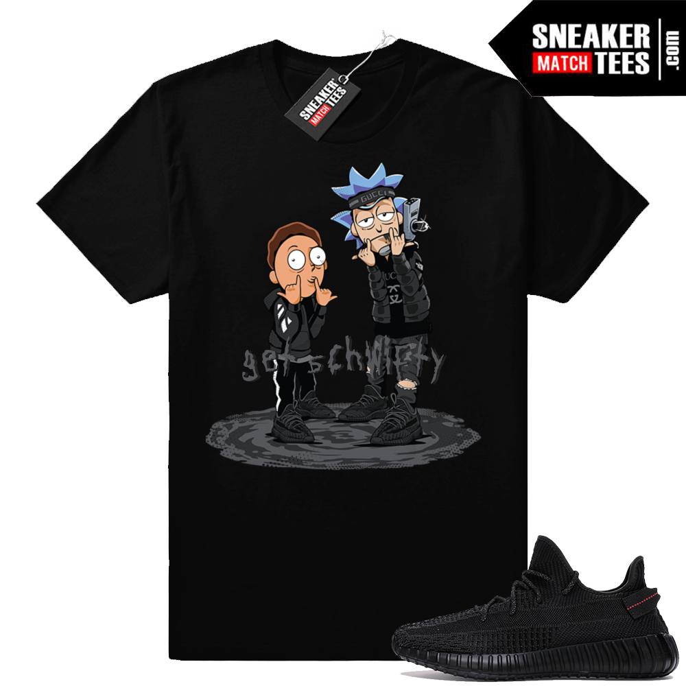 Shirts match Yeezys Black 350