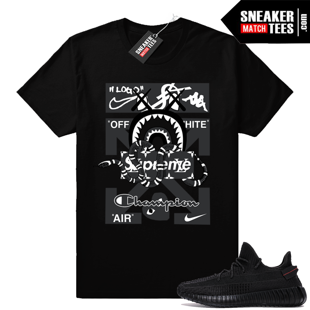 Sneaker shirt to match Yeezy Boost Black
