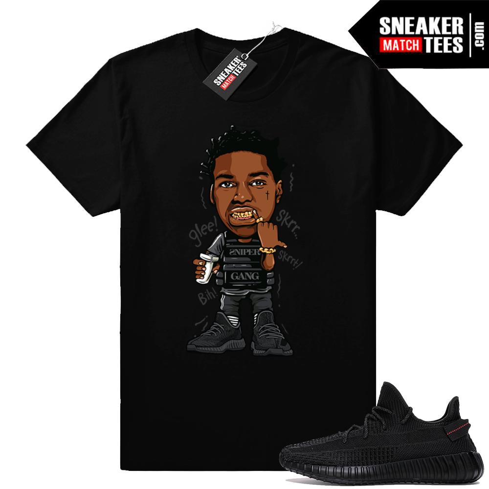 Sneaker shirts Black Yeezy match