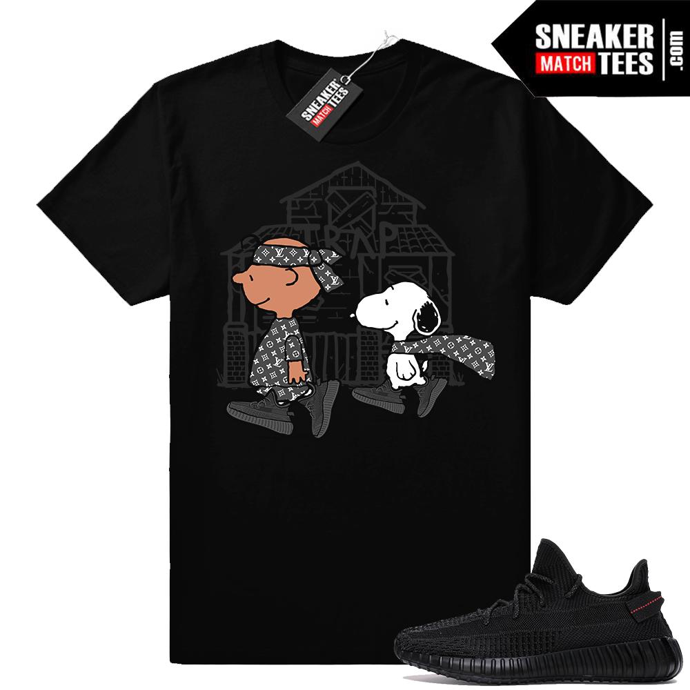 Yeezy Boost 350 Black Designer Trap Tee