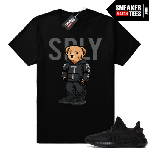Yeezy Boost 350 V2 Black Match Shirt outfit