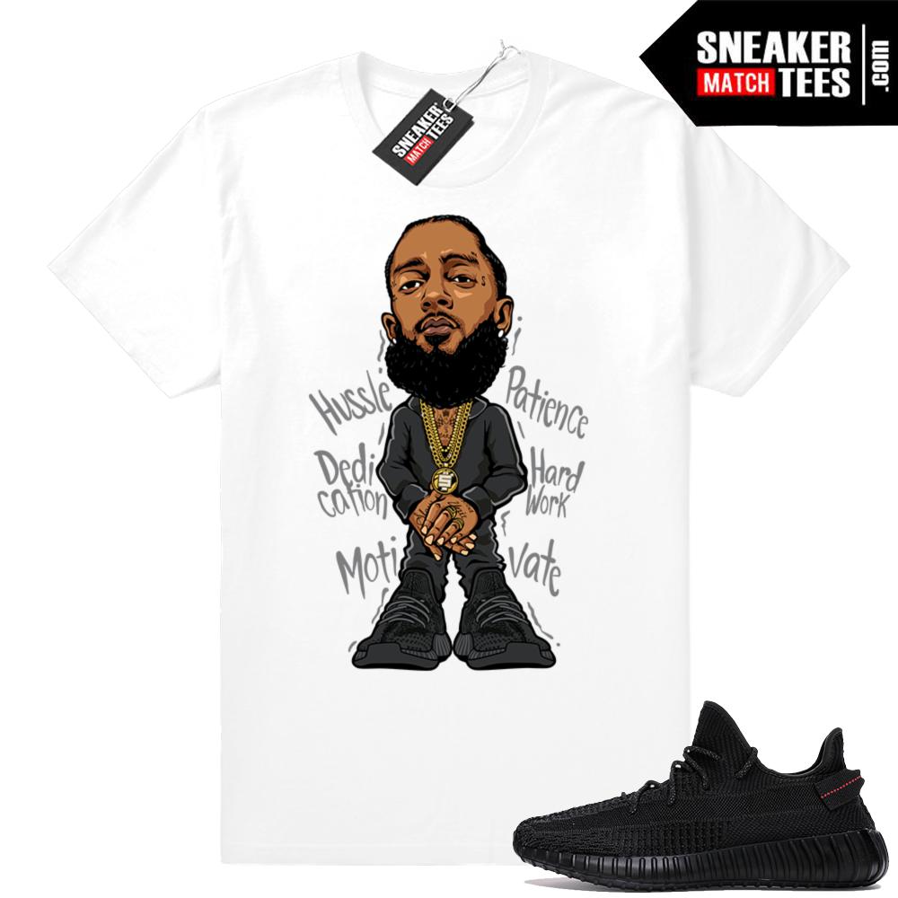 Yeezy sneaker tees Black 350 V2