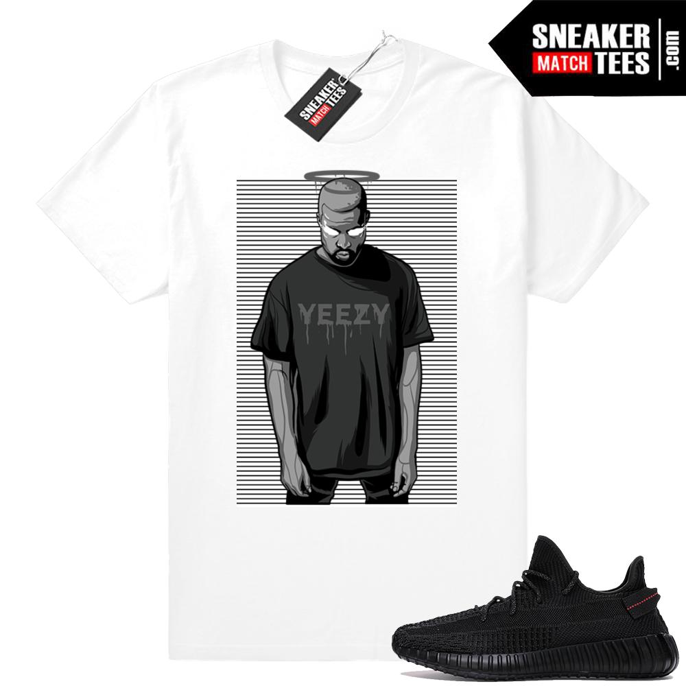 Yeezy t-shirt match Black 350 V2