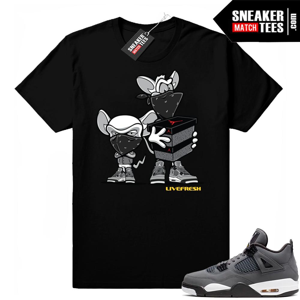 Air Jordan retro 4 sneaker tees cool grey