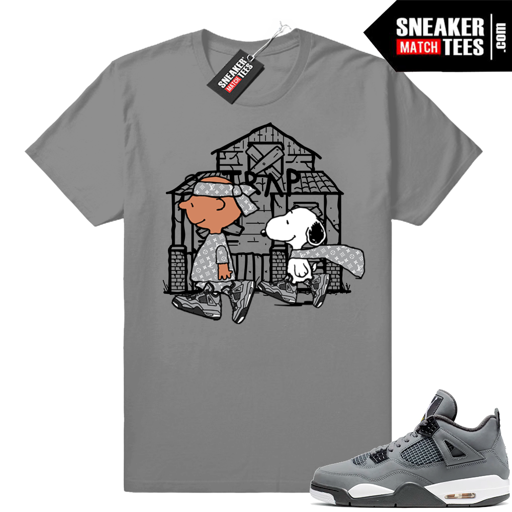 Cool Grey 4s Snoopy Trap House tee