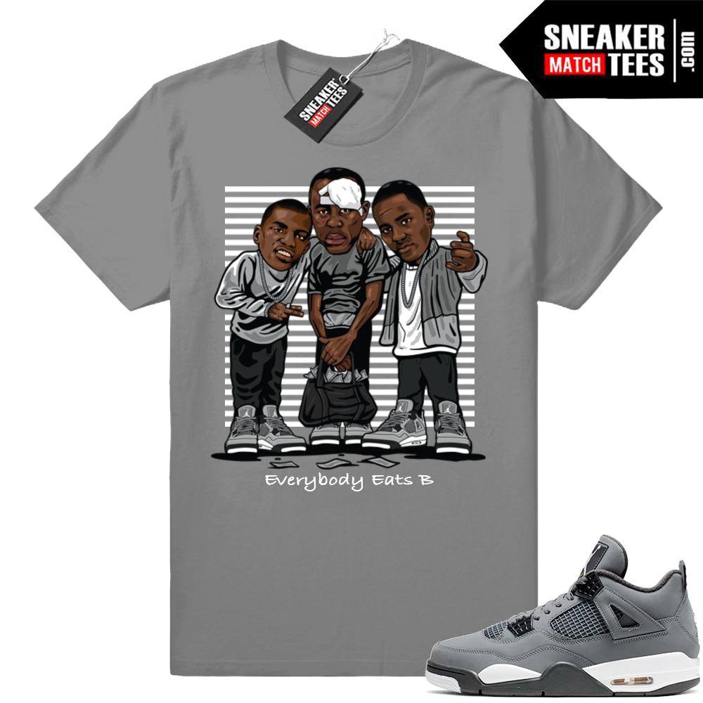 Jordan 4 Cool Grey Sneaker shirt match