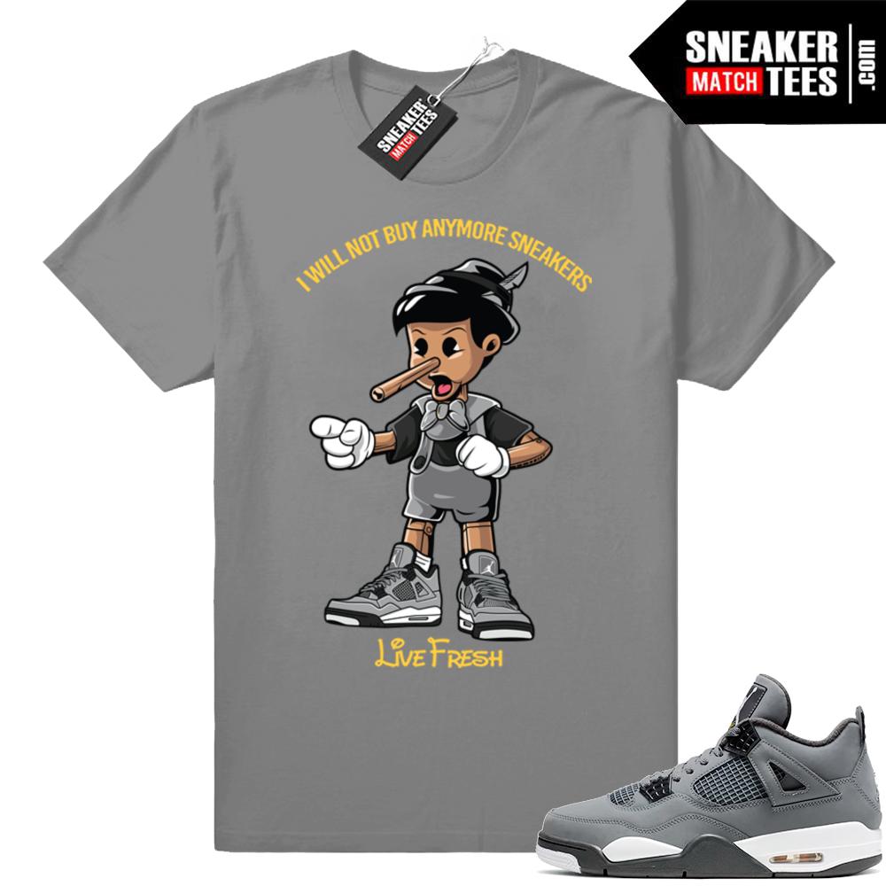 Jordan 4 Cool Grey match shirt