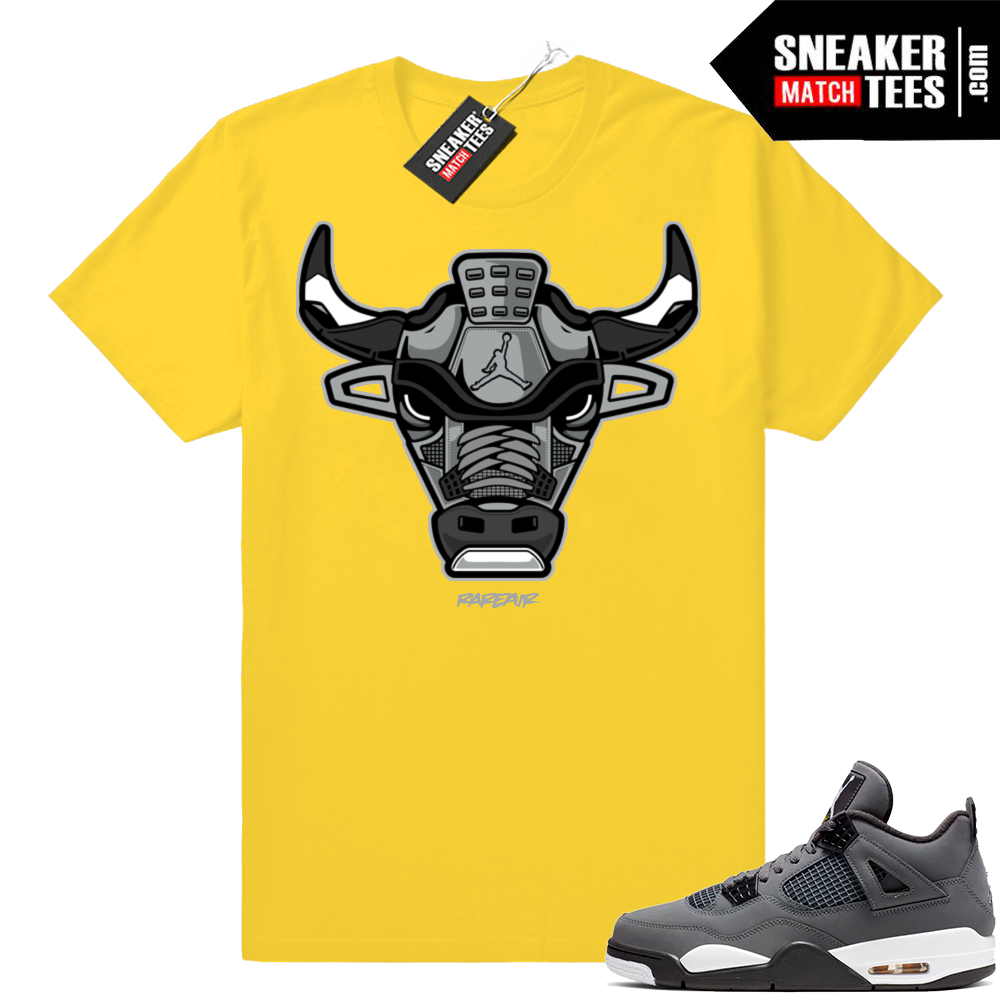 Jordan 4 shirts Cool Grey